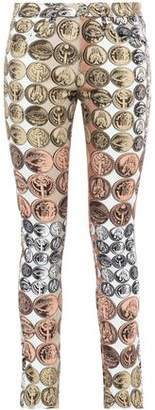Roberto Cavalli Printed Mid-rise Skinny Jeans