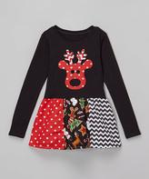 Beary Basics Black & Red Libby Ann Dress - Toddler & Girls