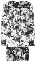Sonia Rykiel panelled palm-print dress