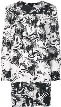 Sonia Rykiel Panelled Palm-Print Dress