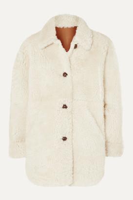 Isabel Marant Sarvey Oversized Shearling Coat - Ecru