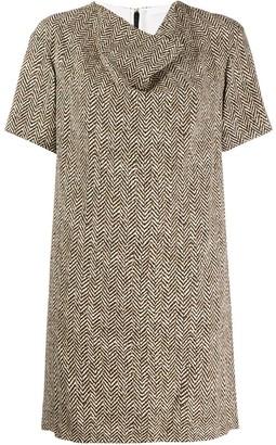 Chloé herringbone draped dress