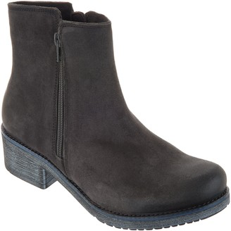Naot Footwear Suede Double Zipper Ankle Boots - Wander