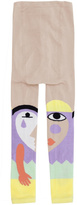 Raspberry Plum Pierrot Face Leggings