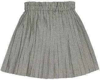 Bonpoint Check cotton miniskirt