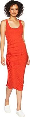 Three Dots Women's eco Knit Tight midi Shirred Dress