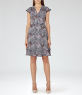Reiss Angelika Printed Day Dress