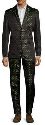 Valentino Clover Leaf Silk Suit