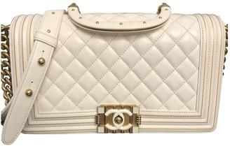 Chanel Boy Ecru Leather Handbags