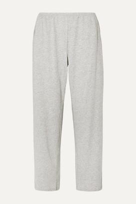 Skin Elena Melange Pima Cotton-jersey Pajama Pants - Gray