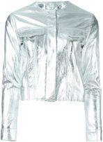 Marques Almeida Marques'almeida cropped metallic jacket
