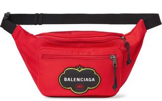 Balenciaga Explorer Logo-Appliqued Nylon Belt Bag