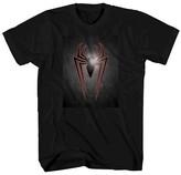Marvel Men's Big & Tall Spider-Man Metal Spider T-Shirt - Black
