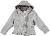 YMI Jeanswear Gray Faux Leather Jacket - Toddler & Girls