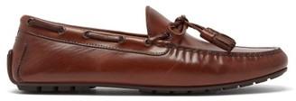 Ralph Lauren Purple Label Harold Tasselled Leather Loafers - Mens - Brown
