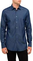 Paul Smith Cotton Dark Chambray Plain Shirt