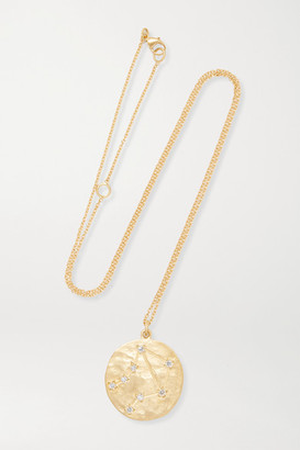 Brooke Gregson Libra 14-karat Gold Diamond Necklace