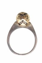 House Of Harlow Engraved Orb Ring in Gold/Silver
