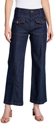 See by Chloe High-Waist Flare-Leg Denim Jeans