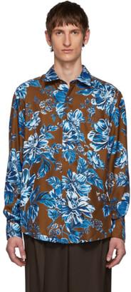 Ami Alexandre Mattiussi Brown Flower Print Shirt