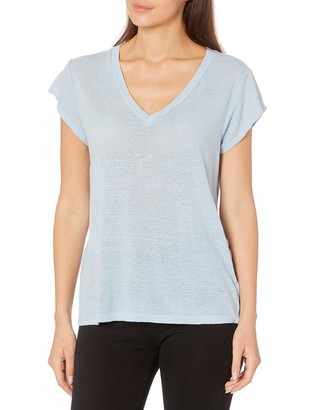 Velvet by Graham & Spencer Women's Linen Knit V-Neck Tee