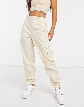 Puma classics high waist utility trousers in tapioca