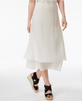 Eileen Fisher Silk Layered Midi Skirt