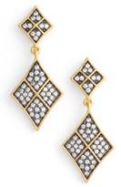 Freida Rothman Contemporary Deco Drop Earrings