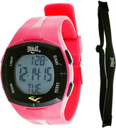Everlast Womens Heart Rate Monitor Pink Silicone Strap Sport Watch
