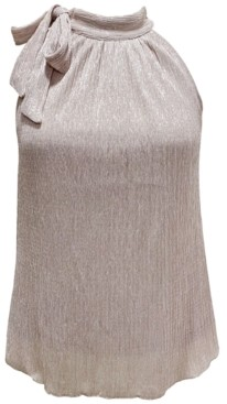 INC International Concepts Inc Petite Tie-Neck Shine Halter Top, Created for Macy's