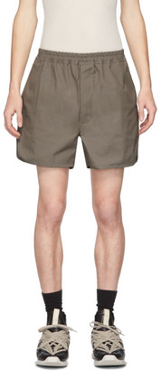 Rick Owens Taupe Dolphin Shorts