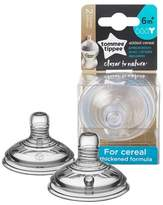 Tommee Tippee Closer To Nature Added Cereal Nipple 2pk