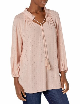 Tribal Women's Blouse Shirt Top Sleeve Tassel Feminine Flattering Comfortable