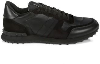 Valentino Noir Rockrunner Camouflage Sneakers