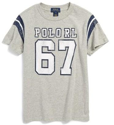 Ralph Lauren 'Jersey' Cotton T-Shirt (Big Boys)