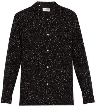 Officine Generale Dario Dot Print Shirt - Mens - Black Multi