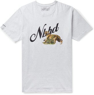 Neighborhood Melange Printed Cotton-Jersey T-Shirt