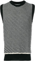 Maison Margiela knit striped tank top