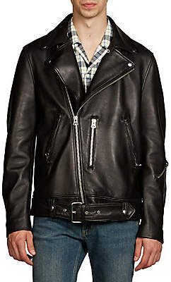 Acne Studios Men's Nate Clean Lamb Leather Moto Jacket
