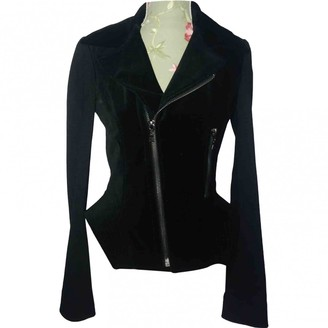 Elie Tahari Black Cotton Jacket for Women