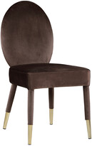 Chic Home Set Of 2 Leverett Brown Dining Chairs
