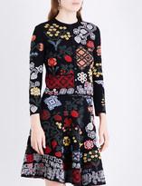 Alexander McQueen Floral-intarsia silk-blend cardigan