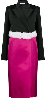 Peter Do Fur-Waist Wrap Skirt