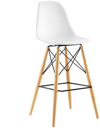 Modway Pyramid Bar Stool - White