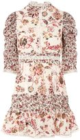 Topshop Floral Lace Strappy Back Dress