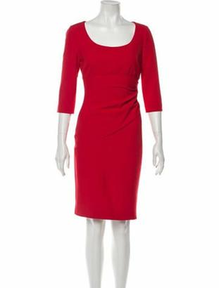 Diane von Furstenberg Scoop Neck Knee-Length Dress w/ Tags Red