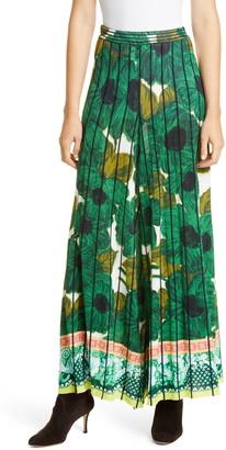 Etro Brushstroke Floral Print Knit Culotte Pants