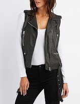 Charlotte Russe Faux Leather Moto Vest
