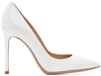 Gianvito Rossi White Patent Gianvito Pumps