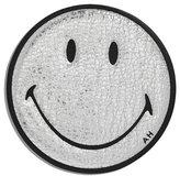 Anya Hindmarch Smiley Leather Sticker for Handbag, Silver